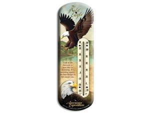 American Expedition Bald Eagle Tin Back Porch Thermometer BTHM-103