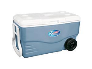 Coleman 100 Quart Xtreme Wheeled Blue Cooler 6201A748