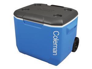 Coleman 60 Quart Wheeled Cooler Blue/White 3000001996