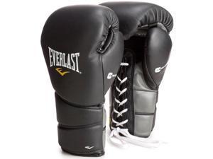 Everlast Black Protex2 16 oz Leather Training Gloves
