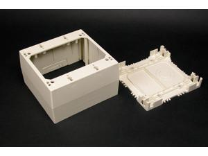 "WIREMOLD 2344-2 2-Gang Extra Deep Device Box, 2-3/4"" Deep, Ivory, 2300 Series"
