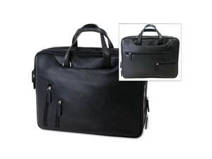 Bond Street Tech-Rite 455743BLK Tech-Rite Computer/Business Case- Leather-Look- 16 x 4 x 12-1/4- Black