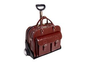 Siamod 35306 San Martino Red Leather Ladies' Detachable Wheeled Laptop Case