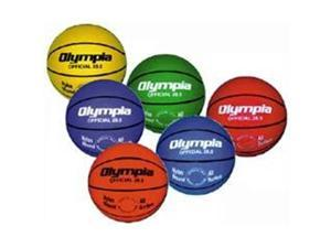 Olympia Sports BA687P Set of 6 Colored Basketballs - Official Size