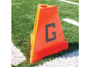 Sport Supply Group 1245134 Poly 11pc Football Sideline Marker