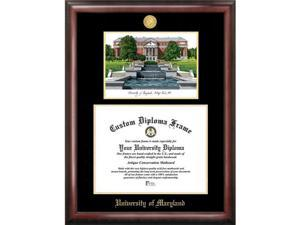 Campus Images University Of Maryland Gold Embossed Diploma Frame