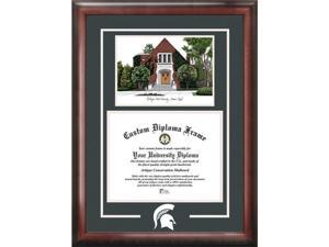 Campus Images Michigan State University Alumni Chapel Spirit Graduate Frame With Campus Image