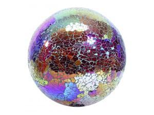 Very Cool Stuff Mosaic Glass Gazing Globe 10 Inch Copper-Red GLMCR10