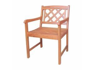 Intenational Concepts C-53917 X-back chair, Oiled