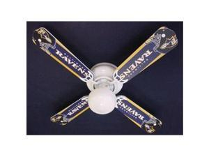 Ceiling Fan Designers 42FAN-NFL-BAL NFL Baltimore Ravens Football Ceiling Fan 42 In.
