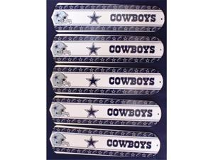 Ceiling Fan Designers 52SET-NFL-DAL NFL Dallas Cowboys Football 52 In. Ceiling Fan Blades Only