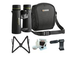 Vanguard Endeavor ED II 8x42 Binocular with Roof Prism Binocular Adapter, Binocular Harness, and Cleaning Kit