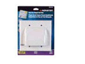 monster cable hinged wall plate hdmi white carded