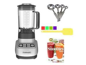 Cuisinart SPB-650 1 HP Blender Bundle with Spatula Measuring Spoons and Smoothies Bible