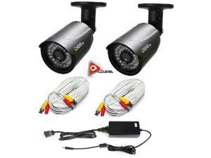 Q-SEE QCA7209B 720p Bullet Security Camera Heritage/Analog HD- 2pk