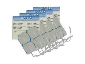 BioTENS (Was Bio-Flex) Premium TENS Silver Electrodes 2x2 in Square, White Mesh Backed 16 ea