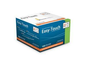 EasyTouch Retractable Insulin Safety Syringe w/ Fixed Needle 29 Gauge .5cc 1/2 inch 100 ea.  Model 862955