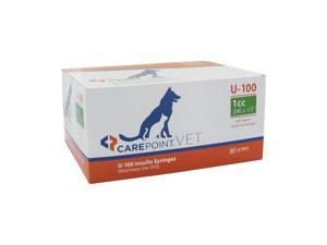 CarePoint 29G 1CC 1/2 in U-100 Pet Insulin Syringe 100