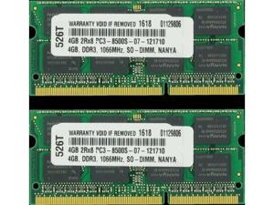 8GB (2X4GB) PC3-8500 1066MHz MEMORY FOR LENOVO THINKPAD T400 2765