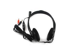 2 X PC Black Microphone Headphone Headset MSN Skype Talk Laptop/Notebook