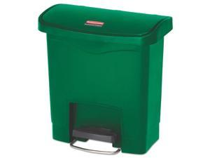 Slim Jim Resin Step-On Container Front Step Style 13 gal Green