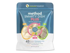 Smarty Dish Plus Detergent Tabs Fragrance Free 45 Tabs/Pack 6 Pk/Carton