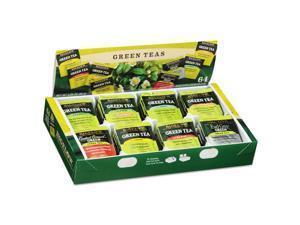 Green Tea Assortment Tea Bags 64/Box 6 Boxes/Carton