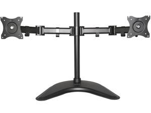 """Dual Monitor Mount Fully Adjustable Desk Free Stand for 2 LCD Screens up to 27"""""""