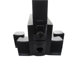 Theater Solutions 5.1 Powered Home Theater Speaker System with Bluetooth and Two 25' Extension Cables TS511B-2