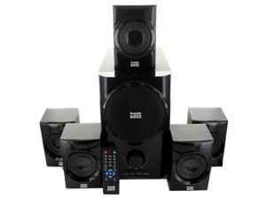 Acoustic Audio AA5160 Home Theater 5.1 Speaker System 500 Watts with Powered Subwoofer