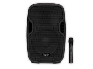 "Acoustic Audio AA84UB Active 600 Watts 8"" Bluetooth Battery Powered Speaker 2 Way with Wireless Mic"