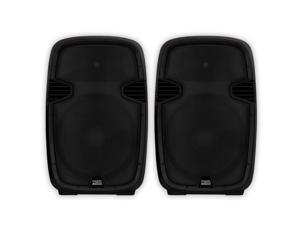 "Acoustic Audio AA152UB Powered 15"" Bluetooth Speaker Pair 1800 Watts USB MP3 Players AA152UB-PR"