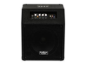 """Podium Pro HA10 Powered 10"""" Guitar Amplifier Speaker with MP3 Player Active"""