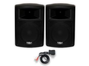 "Podium Pro PP1003A DJ Powered 10"" Speakers and Bluetooth PA Karaoke Band"