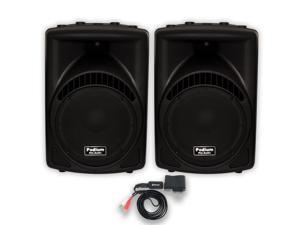 """Podium Pro PP1204CD Powered 12"""" Speaker Pair with Bluetooth MP3 for DJ PA Band"""