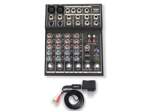 Podium Pro MX602 Mixer with Bluetooth 6 Channel Mic / Line Stereo Mixing Console MX602B
