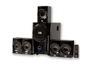 Acoustic Audio AA5160 Home Theater 5.1 Surround Sound Speaker System with FM Tuner