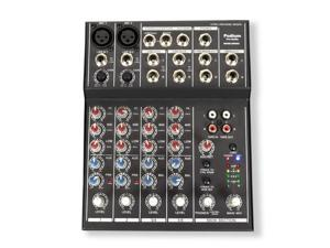 Podium Pro MX602 Mixer 6 Channel Pro Audio Mic / Line Stereo Mixing Console