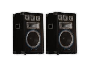 Technical Pro VRTX12 Passive DJ Speaker Pair 2000 Watts PA Karaoke Band Studio 2VRTX12