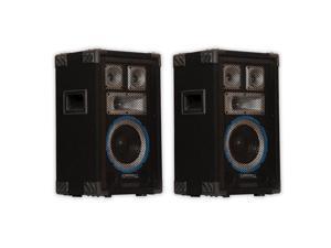 Technical Pro VRTX8 Passive DJ Speaker Pair 1200 Watts PA Karaoke Studio 2VRTX8