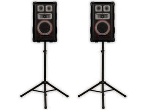 Technical Pro VMPR8 Speakers and Stands 1400 Watts PA DJ Karaoke Studio Home VMPR8SET1
