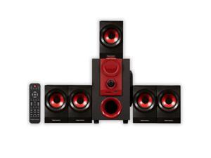 Theater Solutions TS521 Home Theater 5.1 Speaker System 450 Watts with Powered Sub and USB Drive