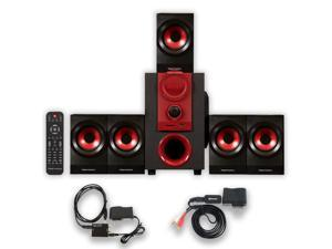 Theater Solutions TS521 Home Theater 5.1 Speaker System with Bluetooth and Optical Input