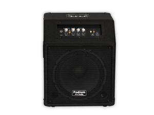 "Podium Pro PPM10 Battery Powered 10"" Guitar Amp Speaker with MP3 Player"