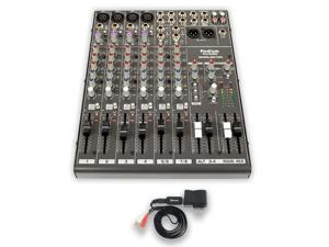 Podium Pro MX1204 Mixer with Bluetooth 12 Channel Mic / Line Stereo Mixing Console MX1204B