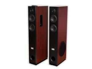 Acoustic Audio TSi500 Bluetooth Powered Floorstanding Tower Home Multimedia Speaker Pair