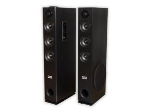 Acoustic Audio TSi450 Bluetooth Powered Floorstanding Tower Home Multimedia Speaker Pair