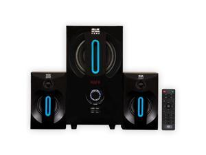 Blue Octave B22 Home 2.1 Powered Speaker System with FM Tuner and USB/SD Inputs for PC TV Gaming
