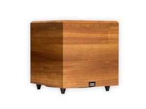 """Theater Solutions SUB12DM Home Theater Powered 12"""" Subwoofer Down Firing Mahogany Sub"""