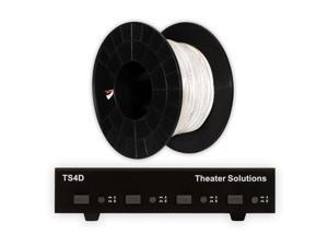 Theater Solutions TS4D Dual Input 4 Zone Speaker Selector Box and 100' of C100-16-2 Wire